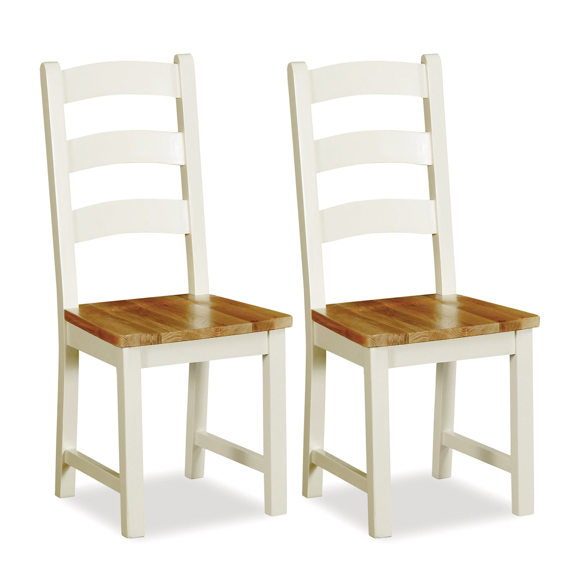 Truro Pair of Oak Slatted Dining Chairs