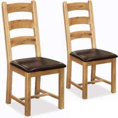 Wexford Pair of Oak Dining Chairs
