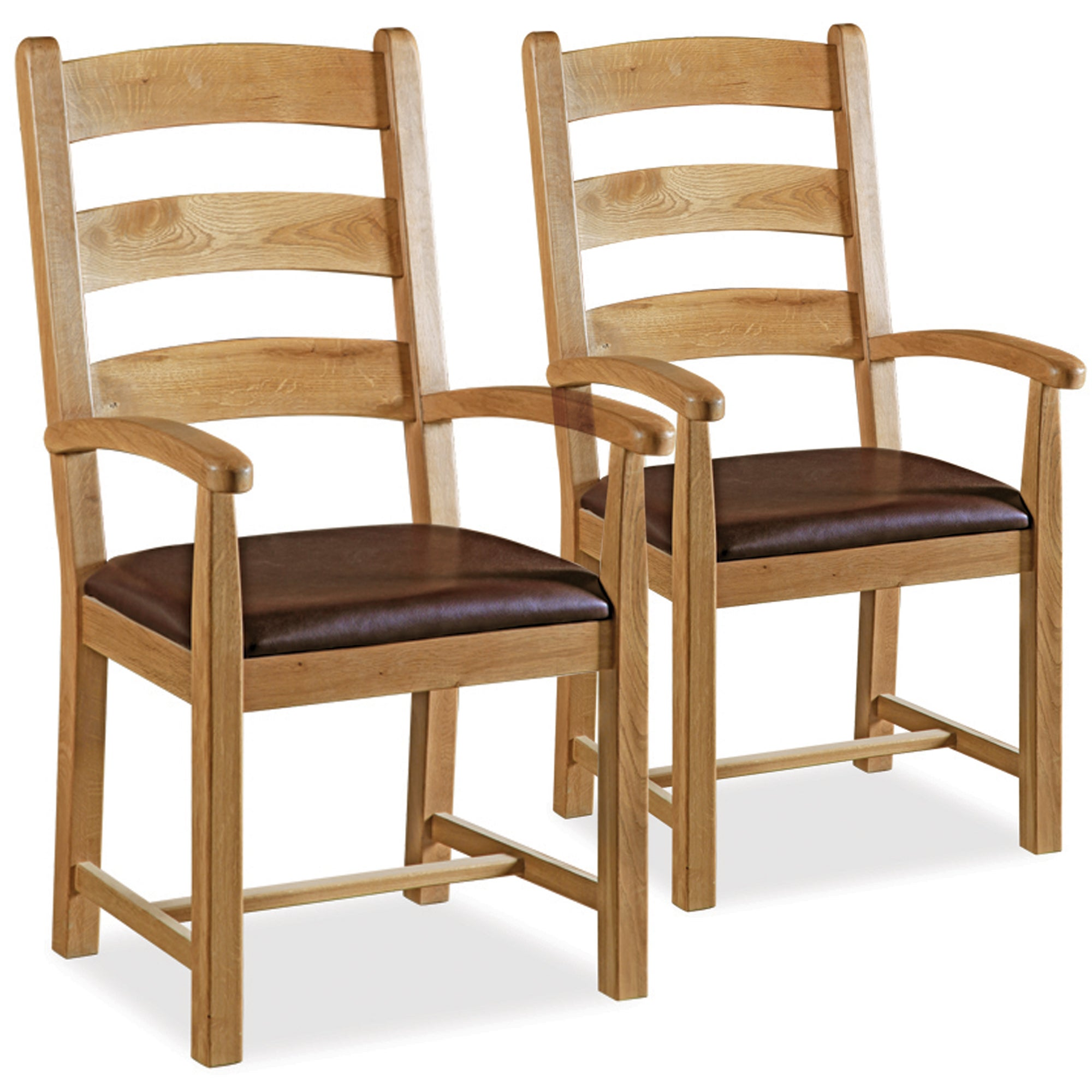 Wexford Pair of Oak Dining Carver Chairs