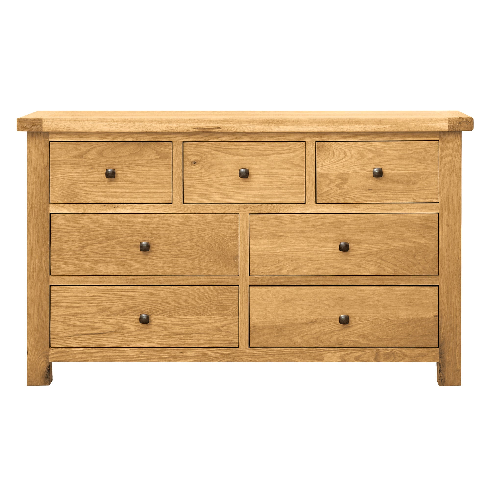 Harrogate Oak 7 Drawer Chest