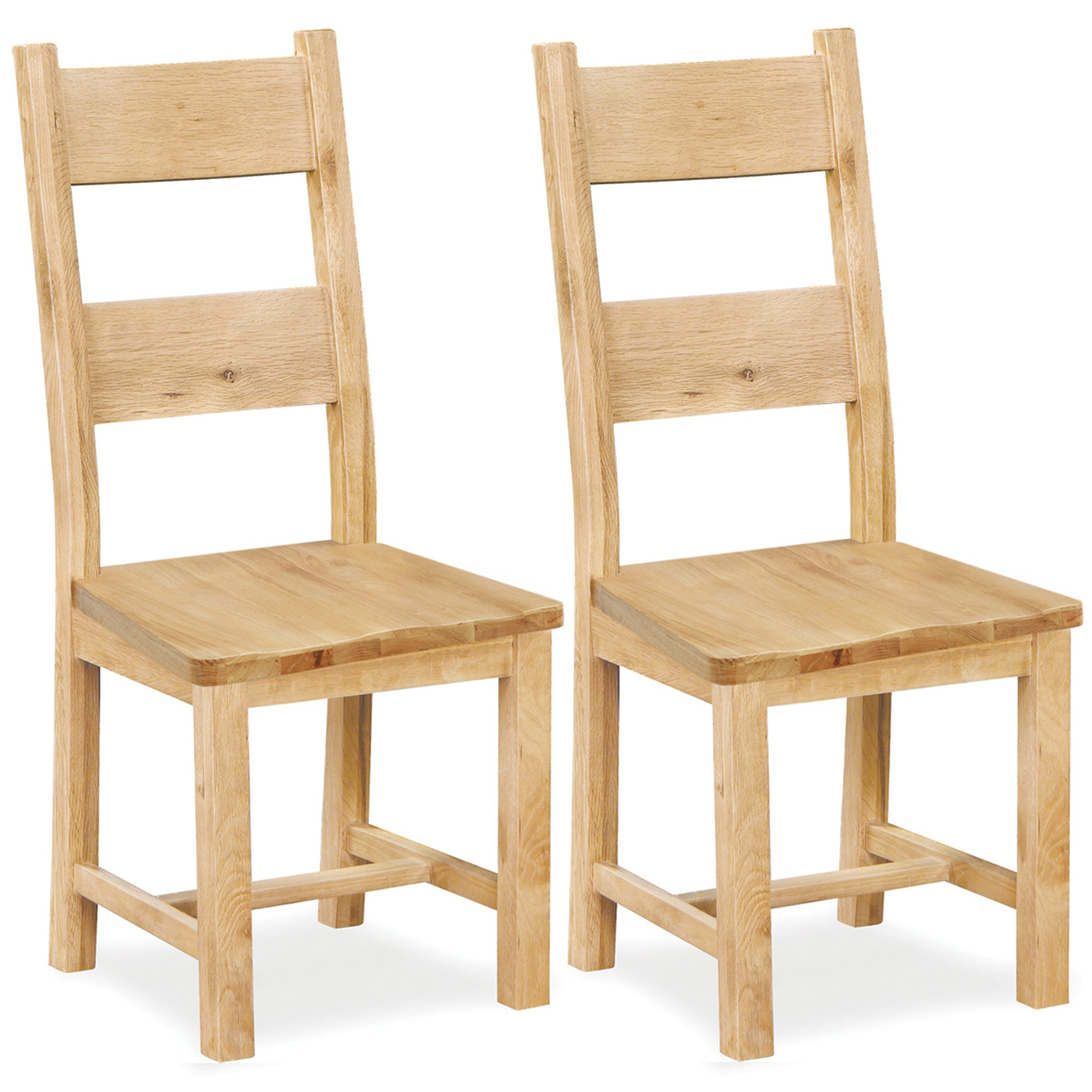 Harrogate Pair of Oak Dining Chairs