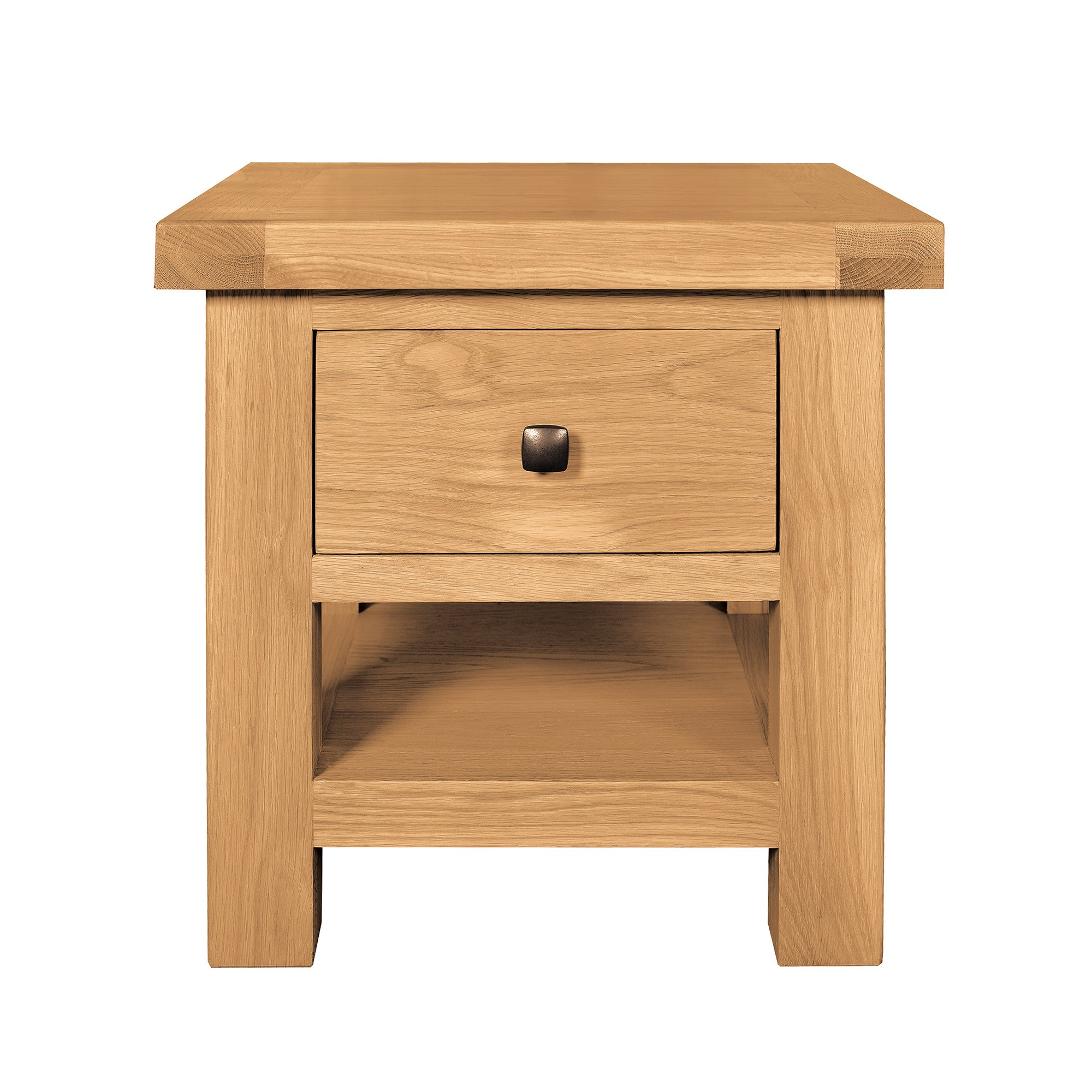 Harrogate Oak Lamp Table with Drawer