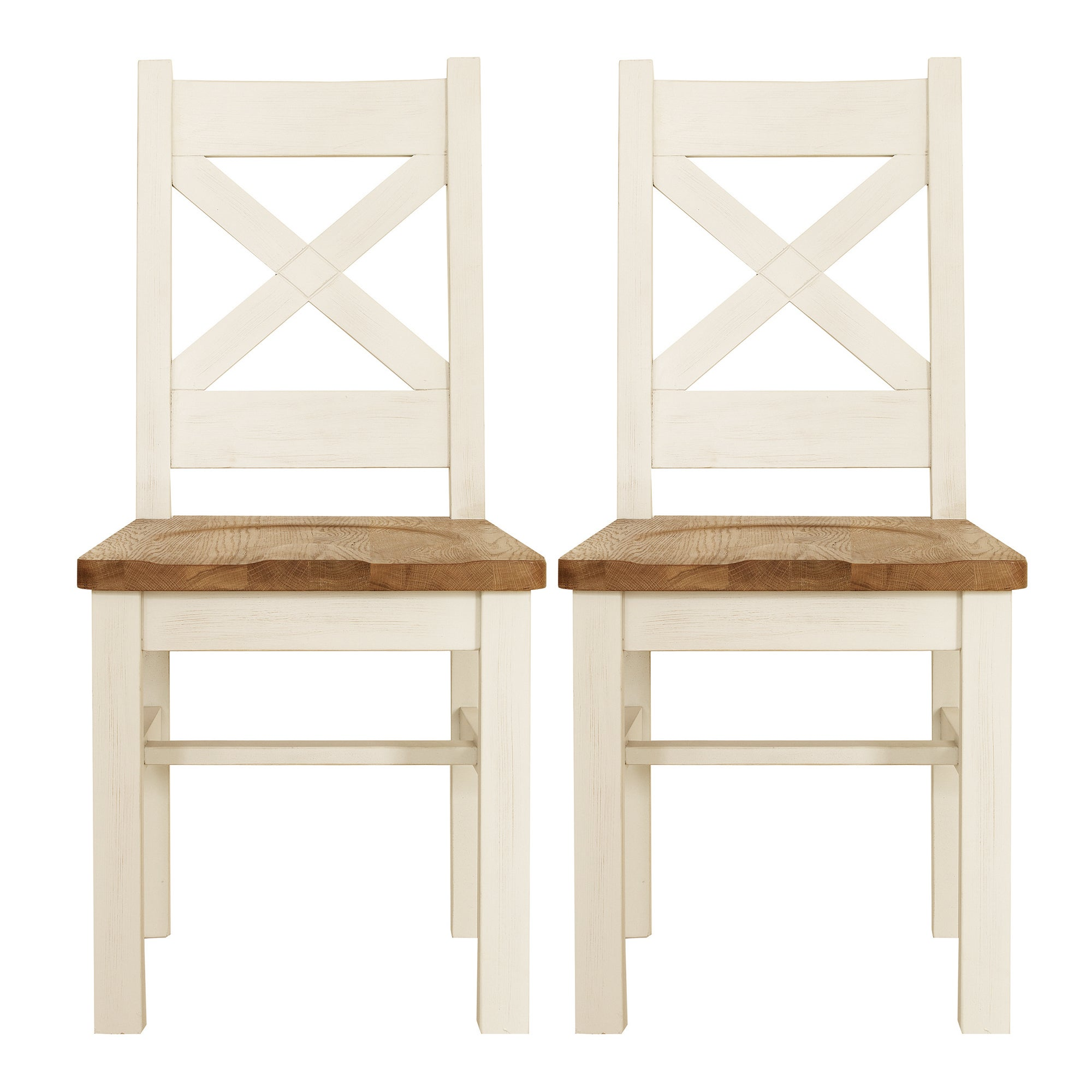 Salcombe Pair of Oak Dining Chairs
