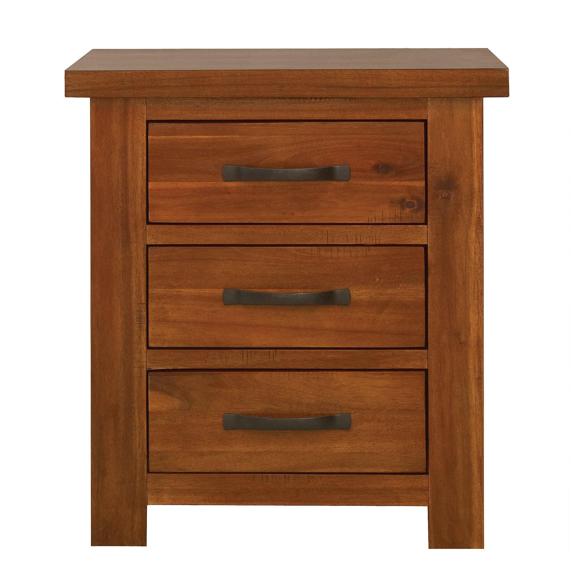 oxford acacia dark wood bedside unit dunelm. Black Bedroom Furniture Sets. Home Design Ideas