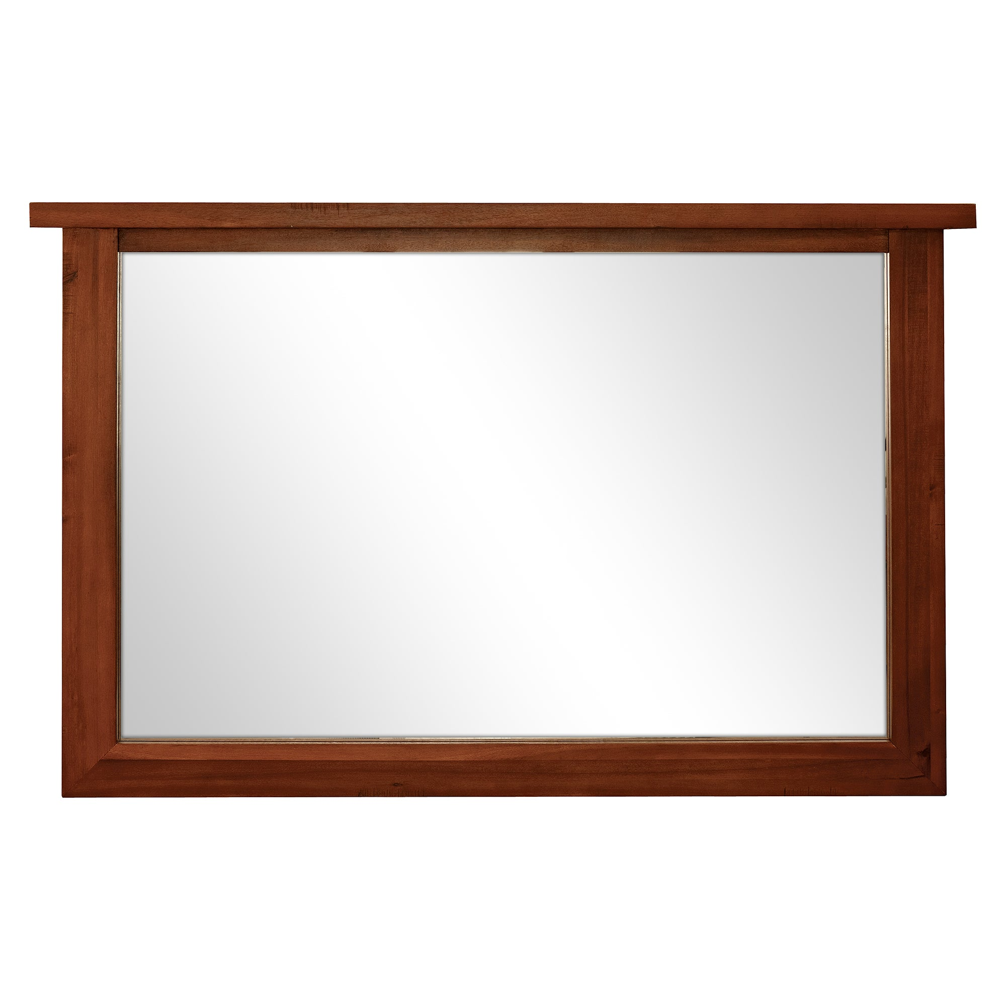 Oxford Acacia Dark Wood Mirror