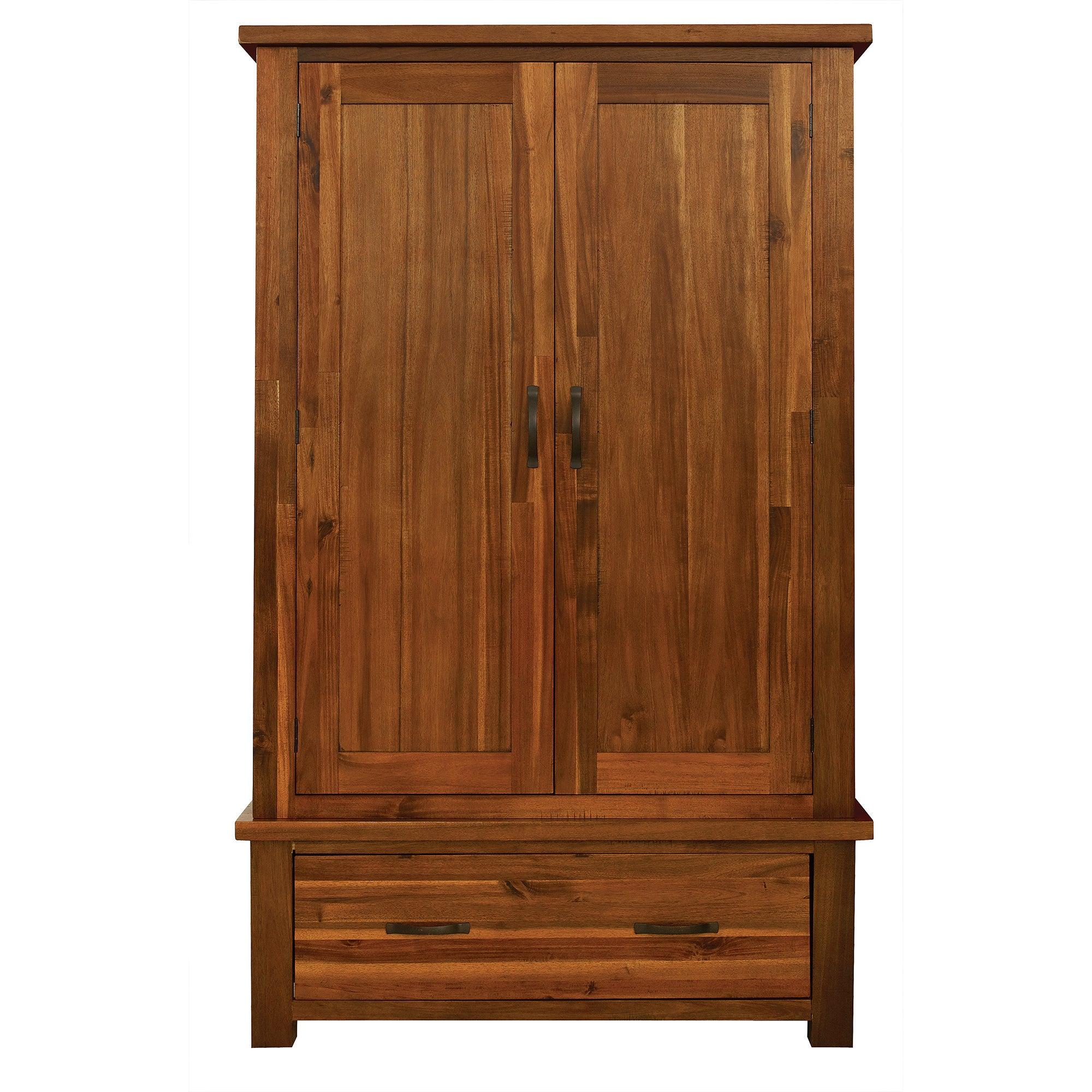 Oxford Acacia Dark Wood Wardrobe