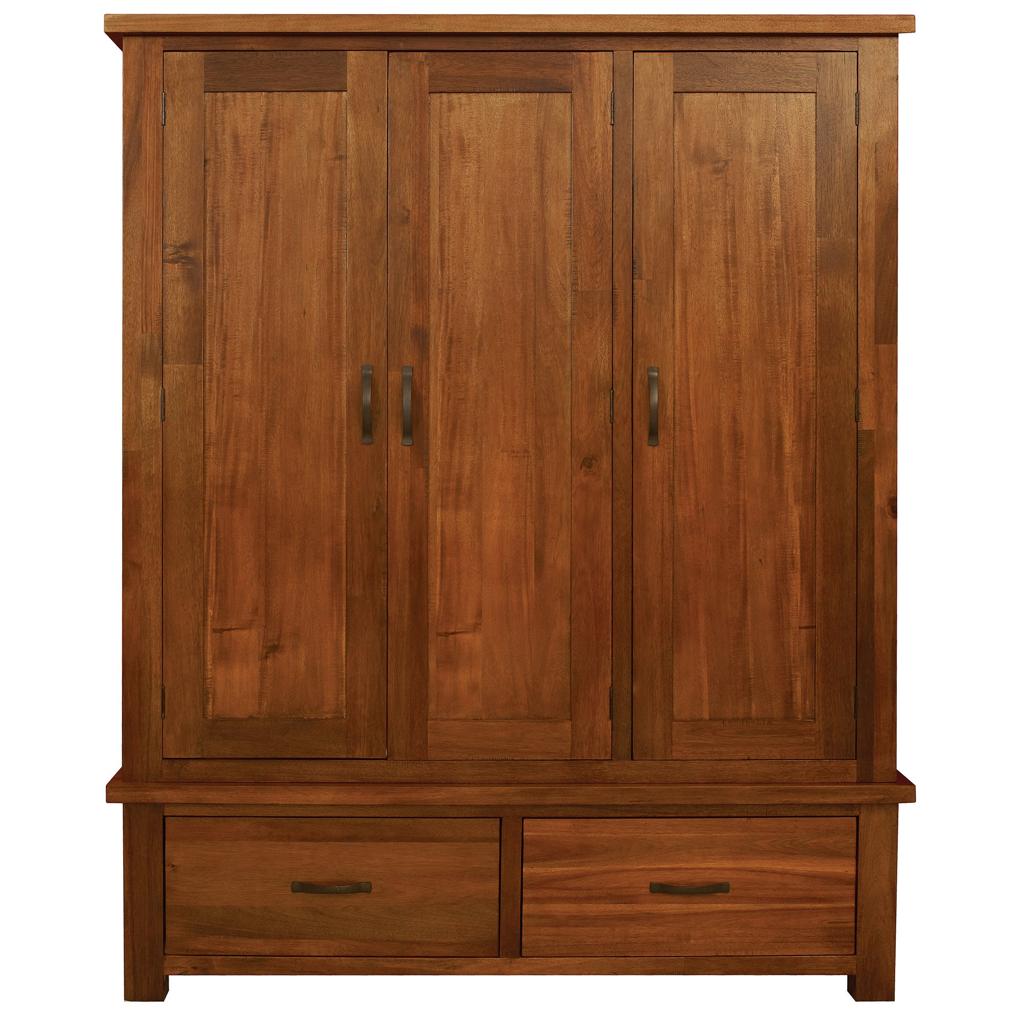 Oxford Acacia Dark Wood Triple Wardrobe