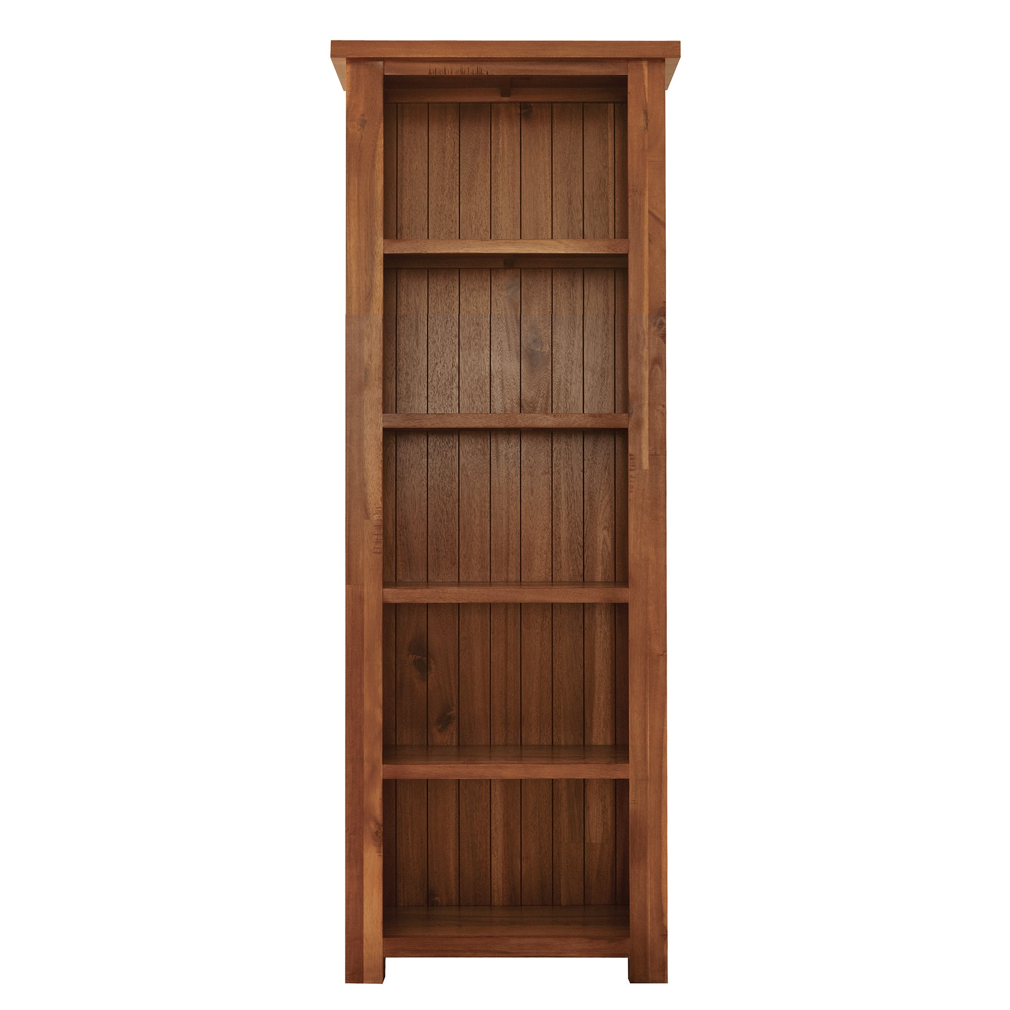 Oxford Acacia Dark Wood Slim Bookcase