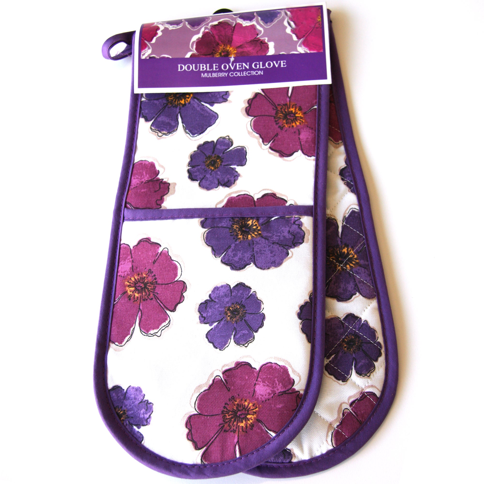 Mulberry Flower Collection Double Oven Glove