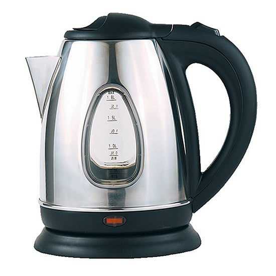 Dunelm Polished Stainless Steel Jug Kettle