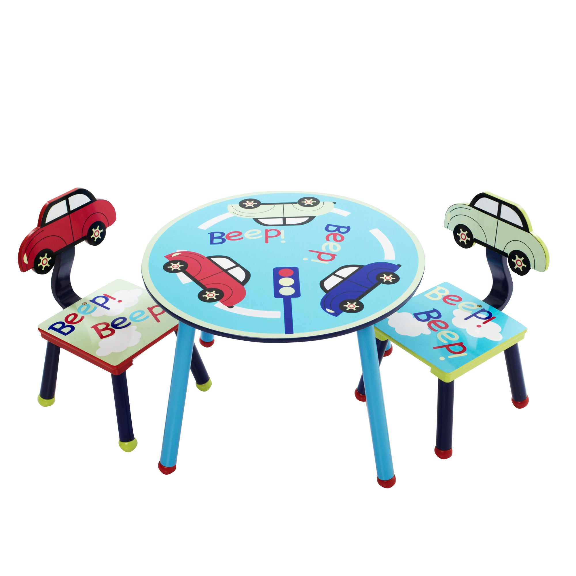 Kids Beep Beep Collection Play Table and Chairs