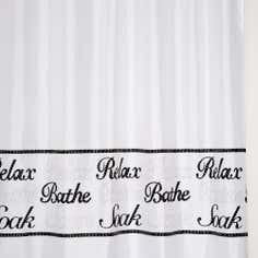 Black and White Bling Shower Curtain