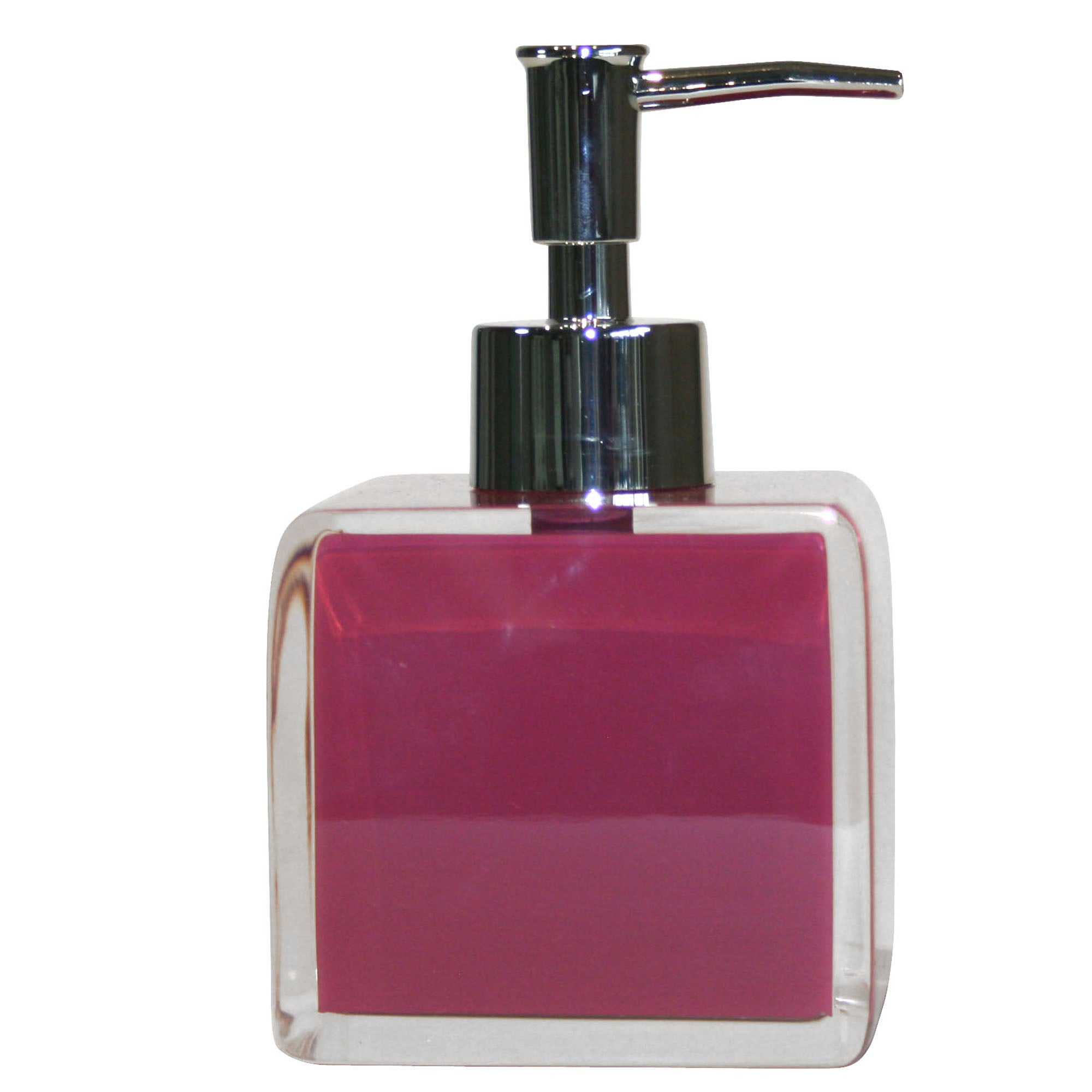 Raspberry Brights Collection Acrylic Soap Dispenser