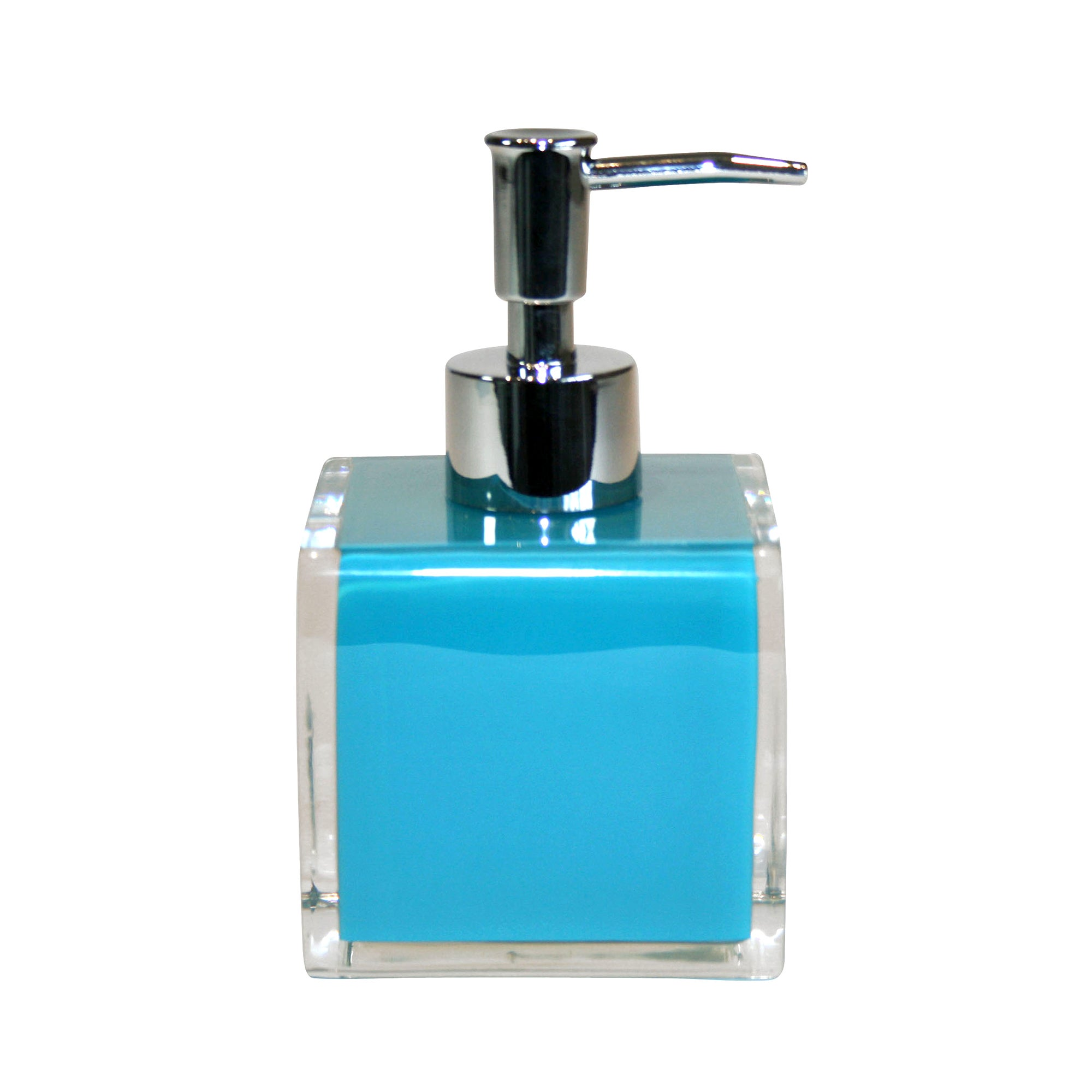 Teal Brights Collection Acrylic Soap Dispenser