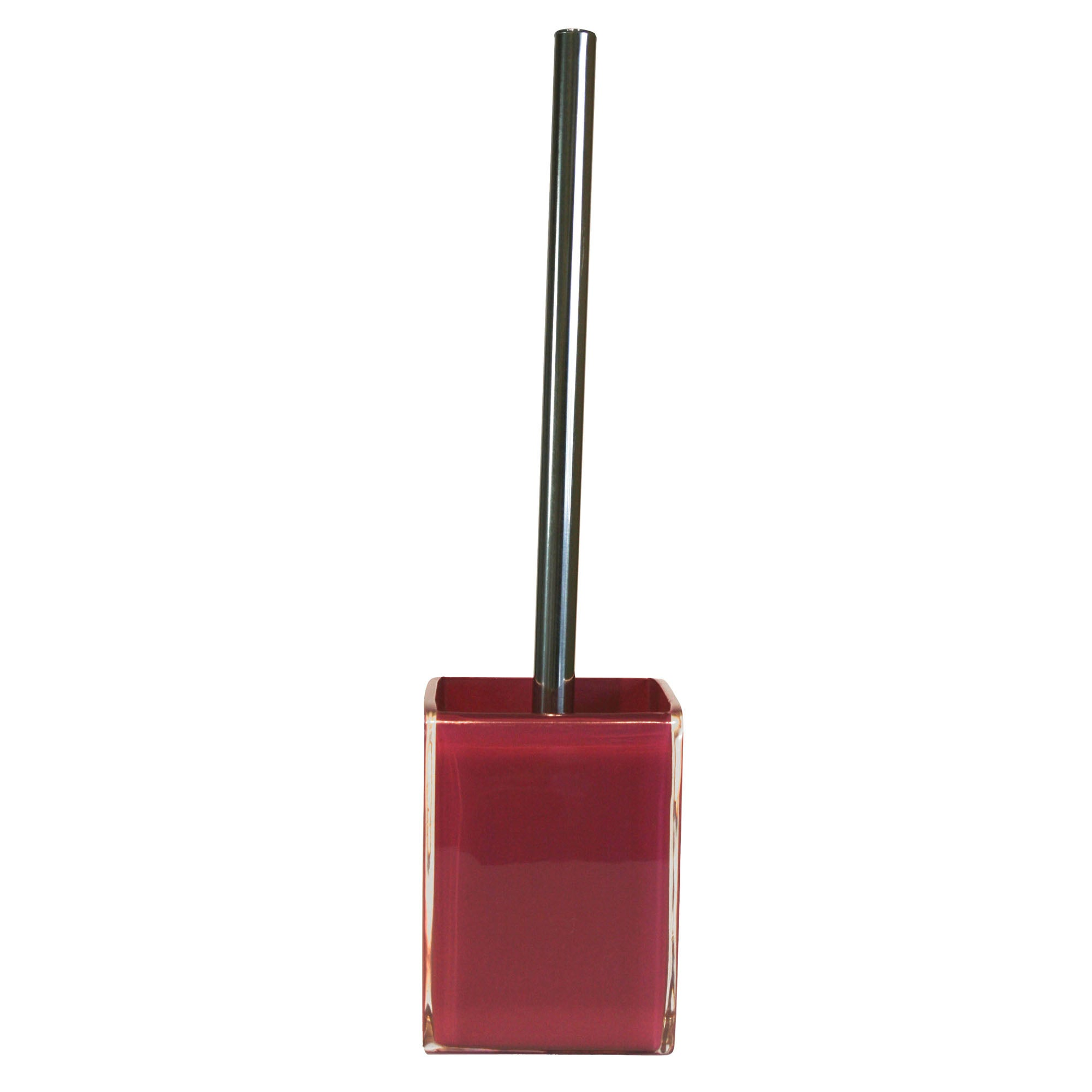 Raspberry Brights Collection Acrylic Toilet Brush Holder