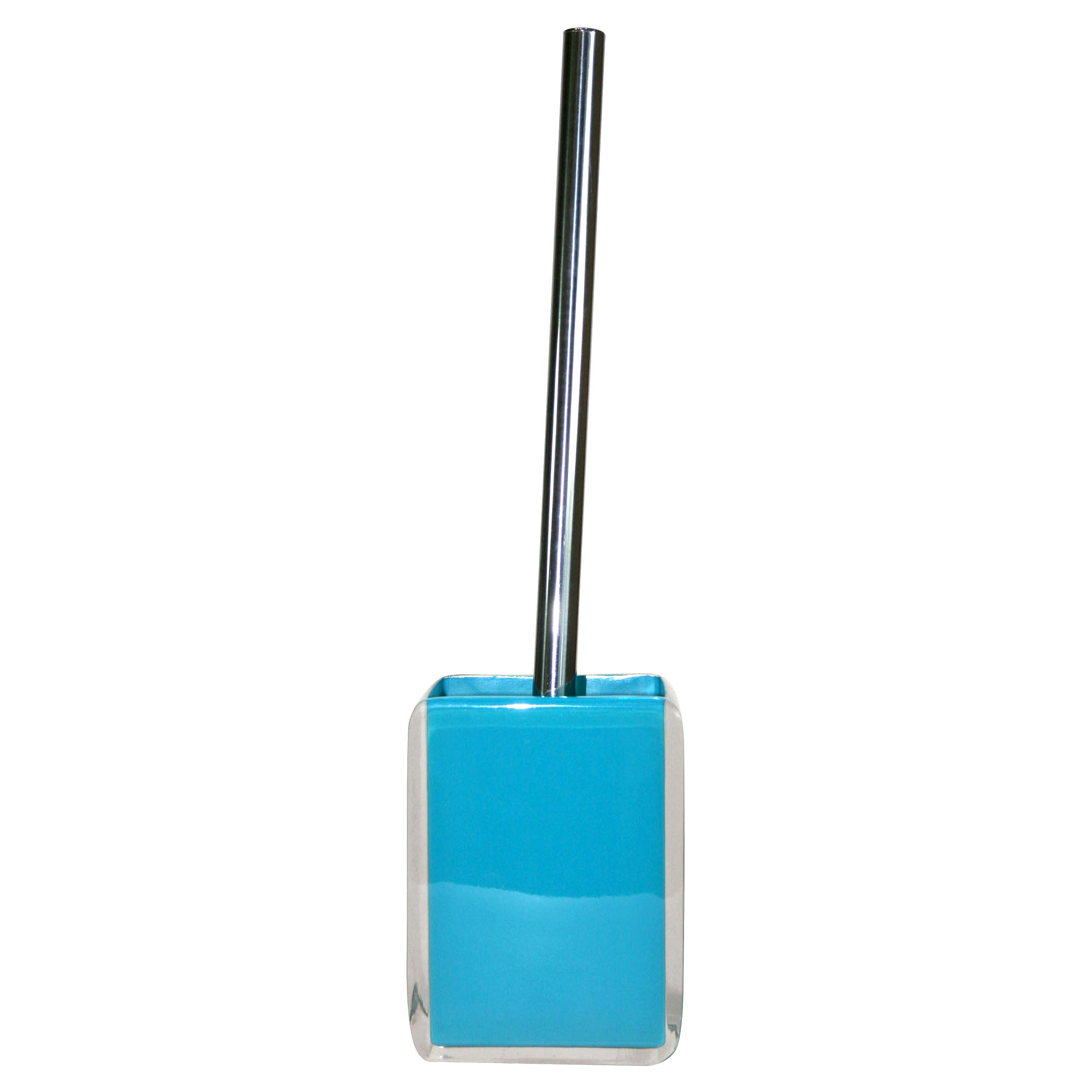 Teal Brights Collection Acrylic Toilet Brush Holder