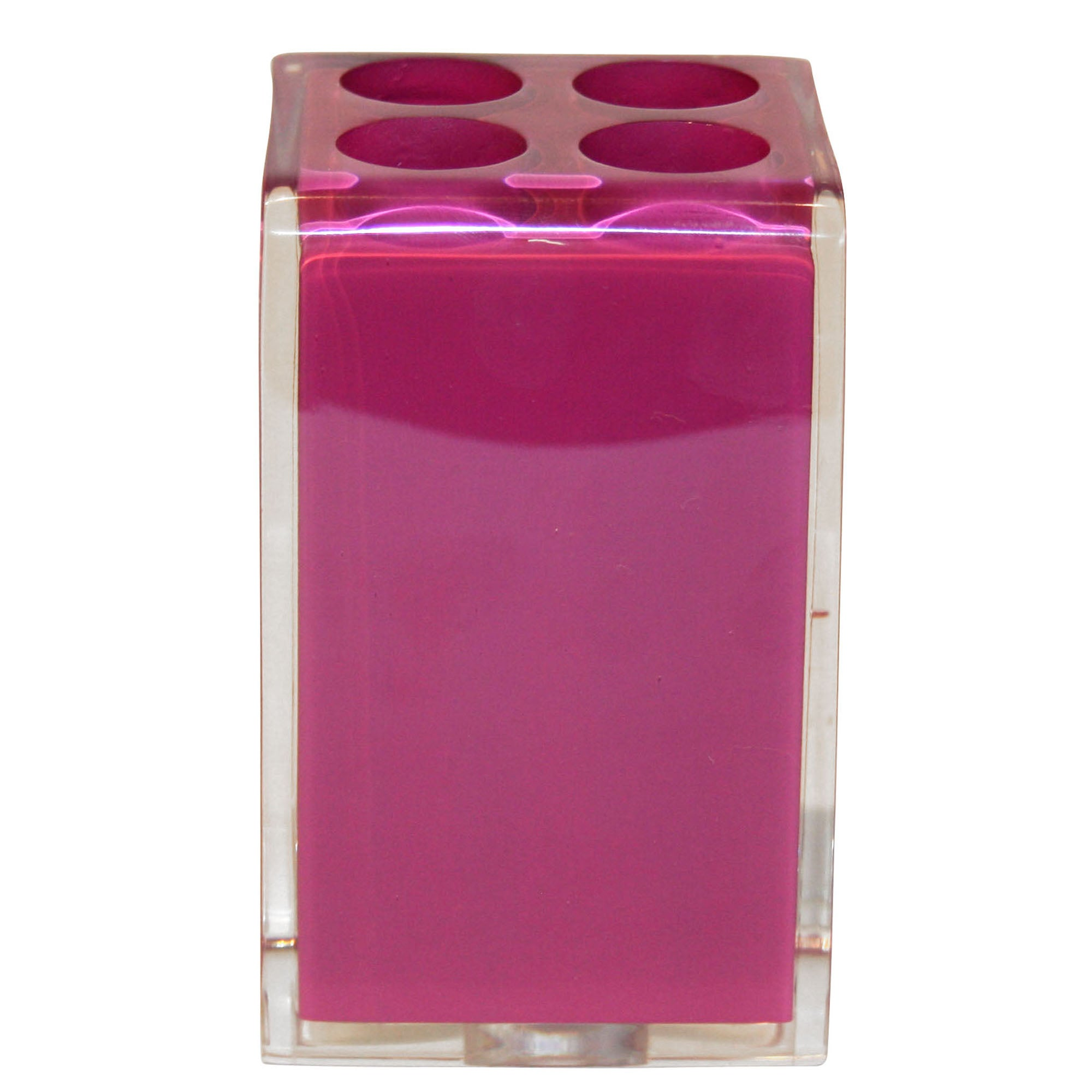 Raspberry Brights Collection Acrylic Toothbrush Holder