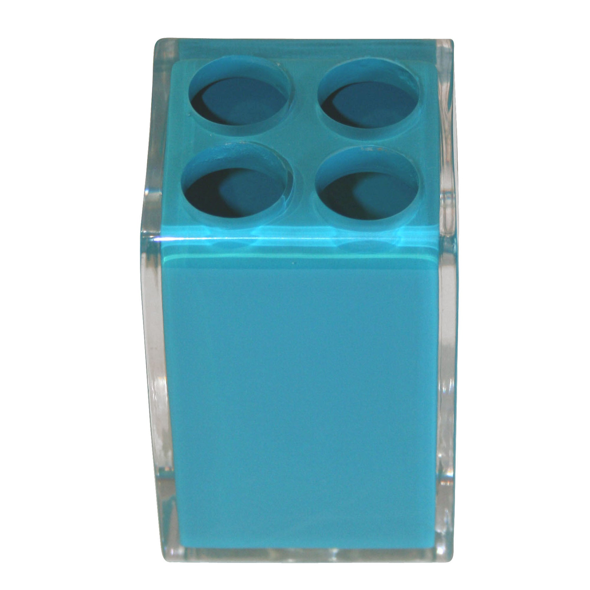 Teal Brights Collection Acrylic Toothbrush Holder
