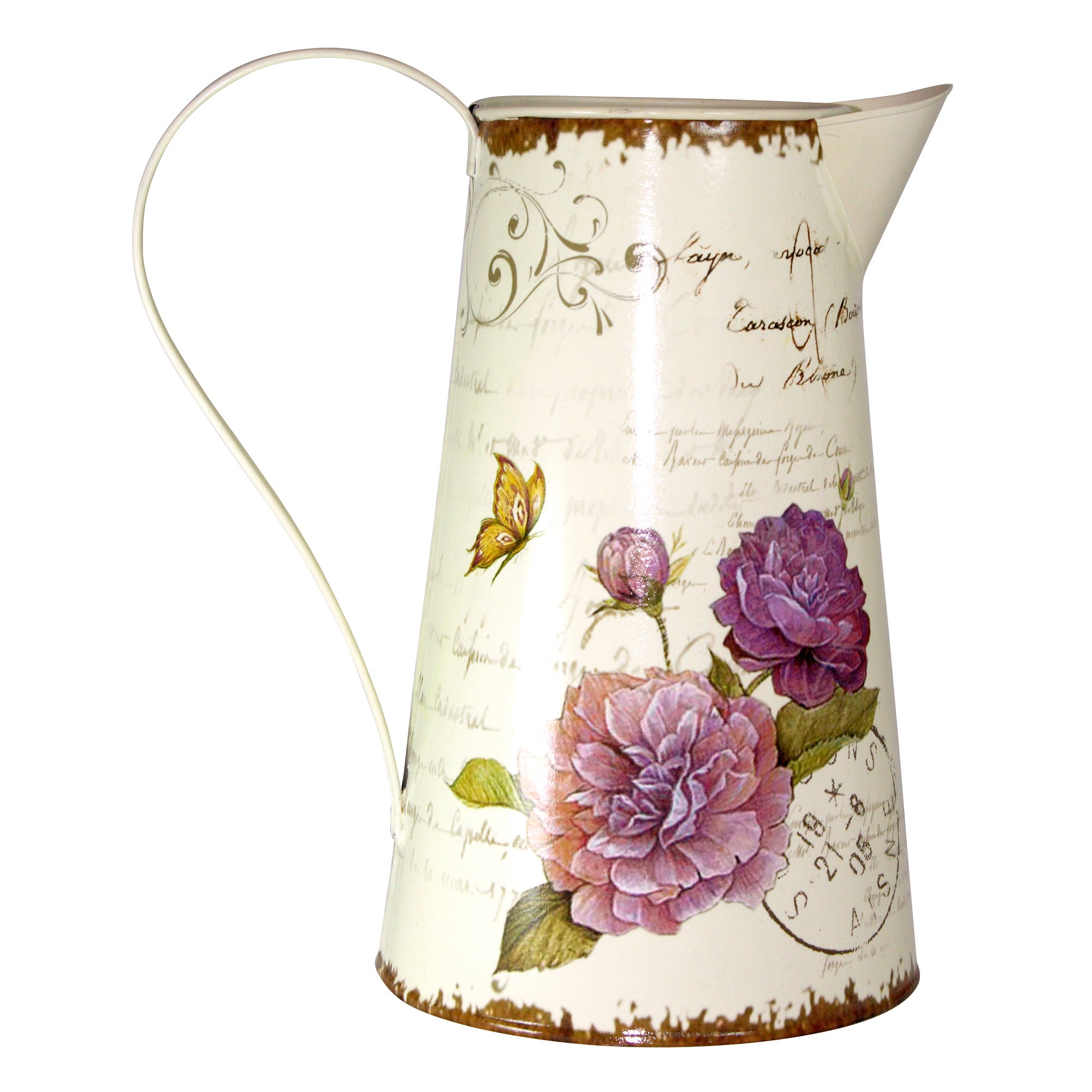 Florence Collection Floral Metal Jug