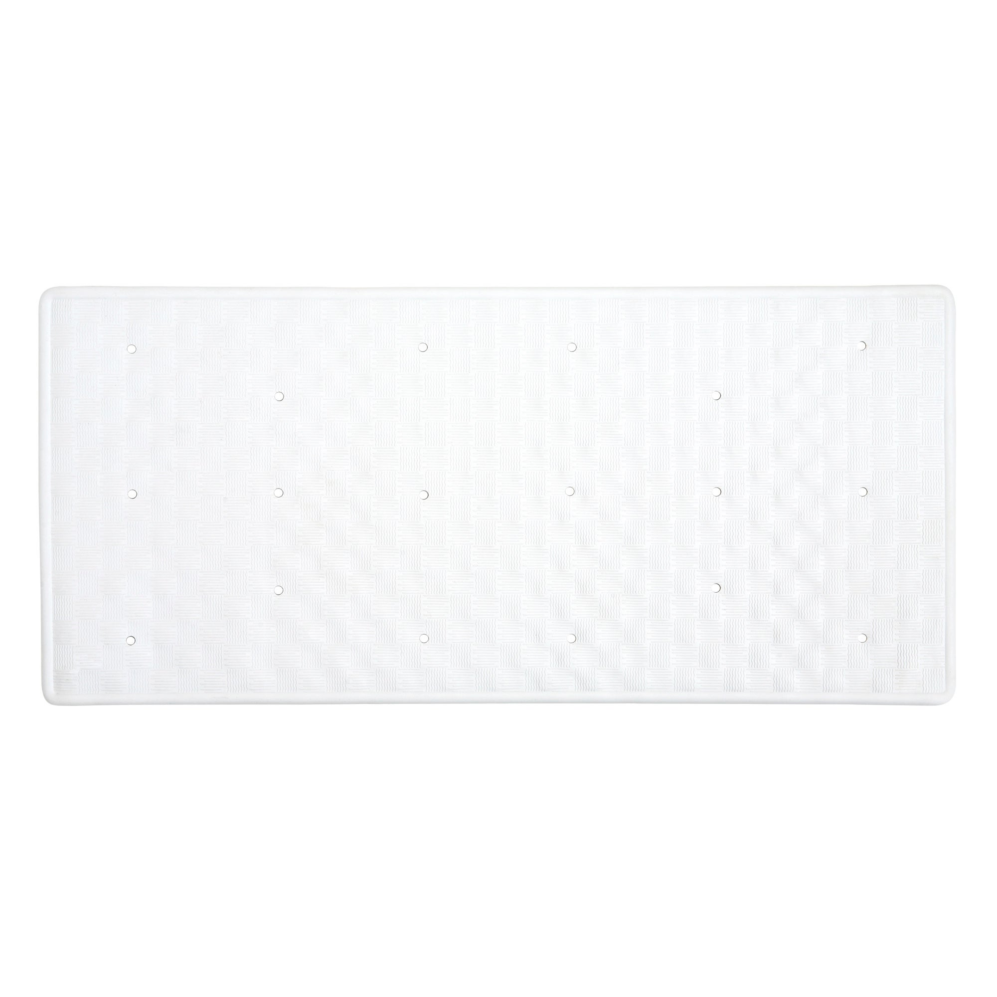 White Rubber Bath Mat