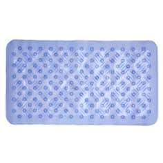 Blue Ribbed Bath Mat