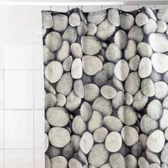 Grey Stones Shower Curtain