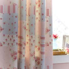 Pink Amelia Thermal Pencil Pleat Curtains