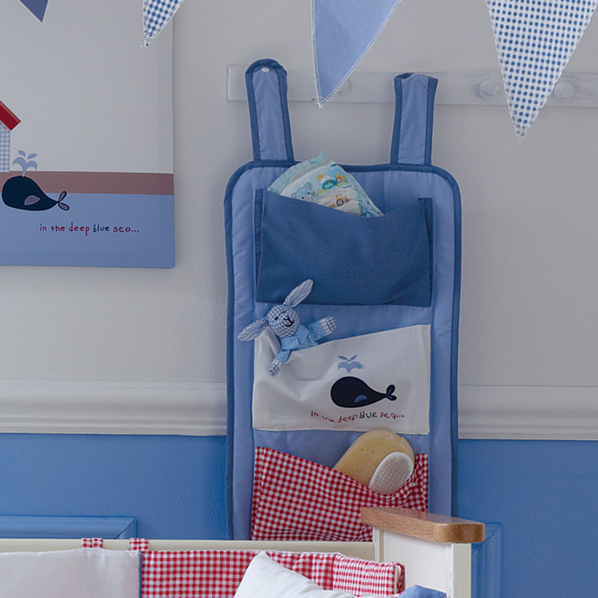 Kids Deep Blue Sea Collection Cot Organiser