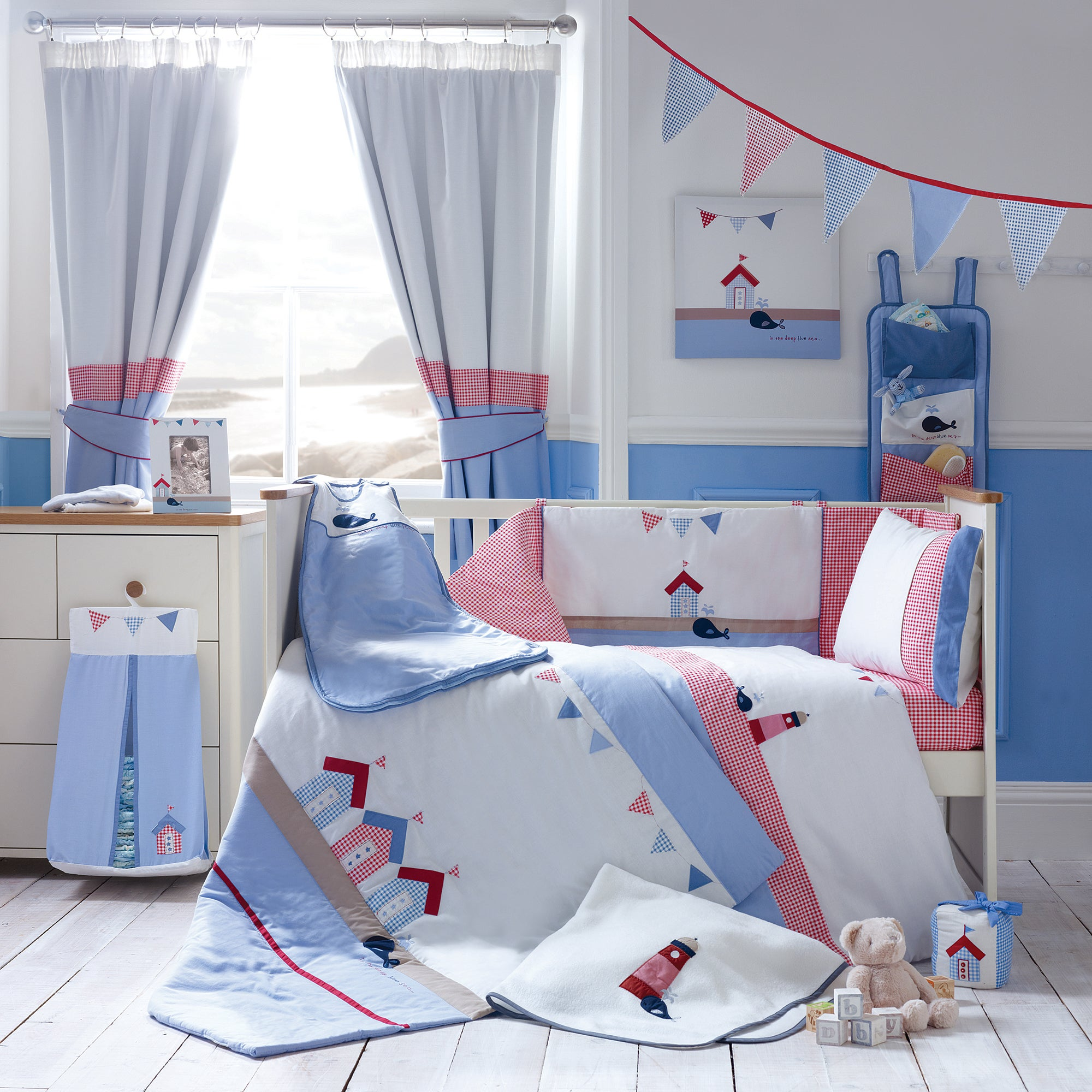 Kids Deep Blue Sea Collection Cot Bed Duvet Cover