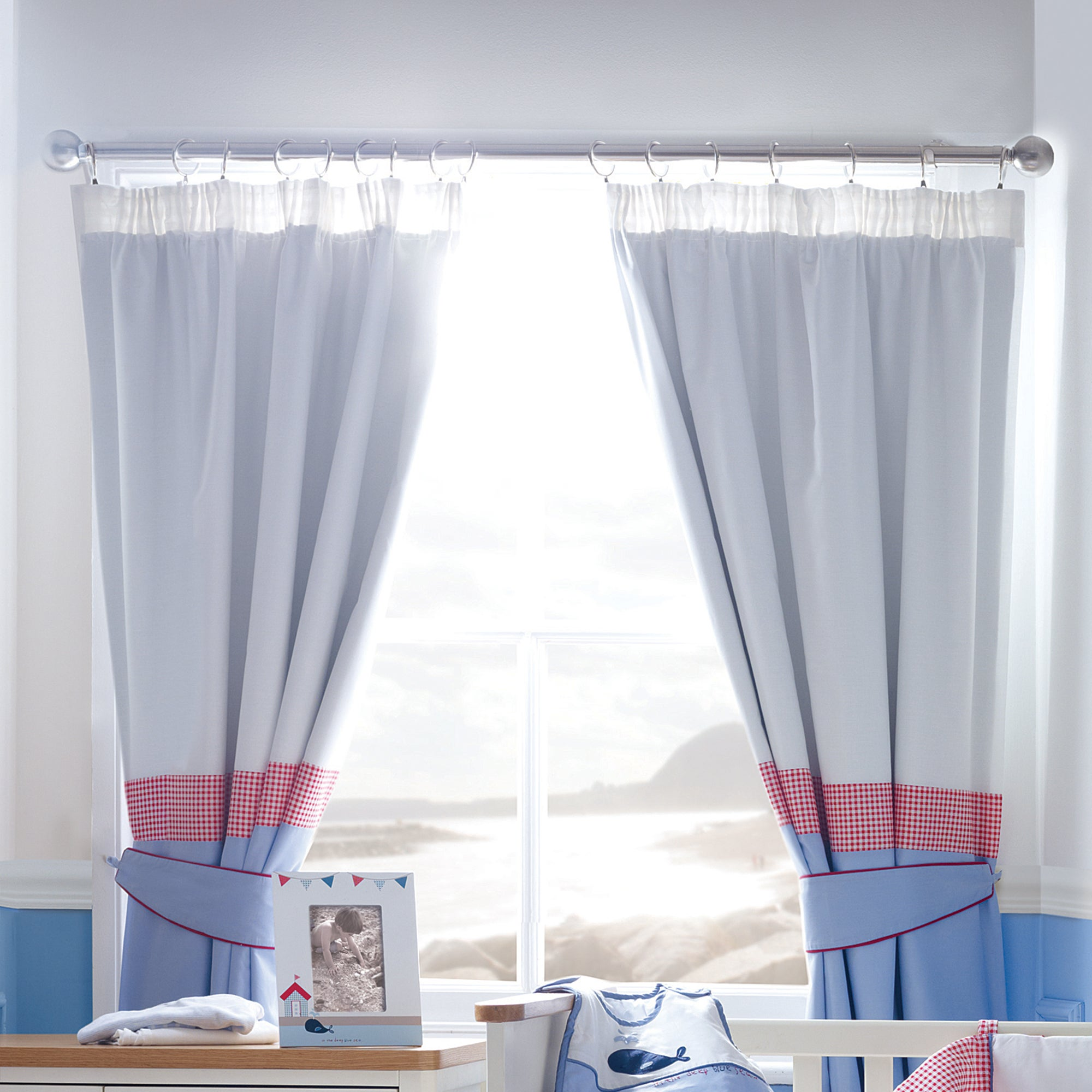 Kids Deep Blue Sea Blackout Pencil Pleat Curtains