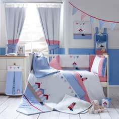 Kids Deep Blue Sea Collection Flat Cot Sheet