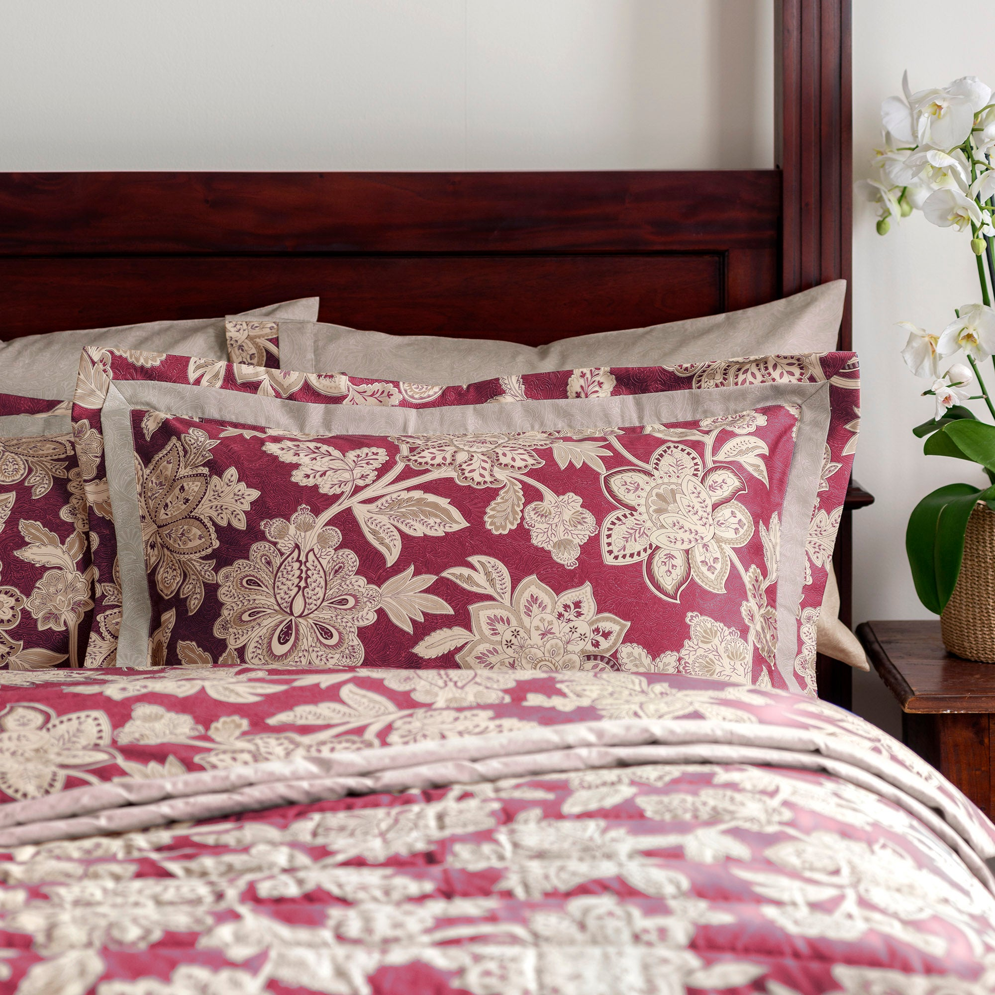 Dorma Red Samira Collection Oxford Pillowcase