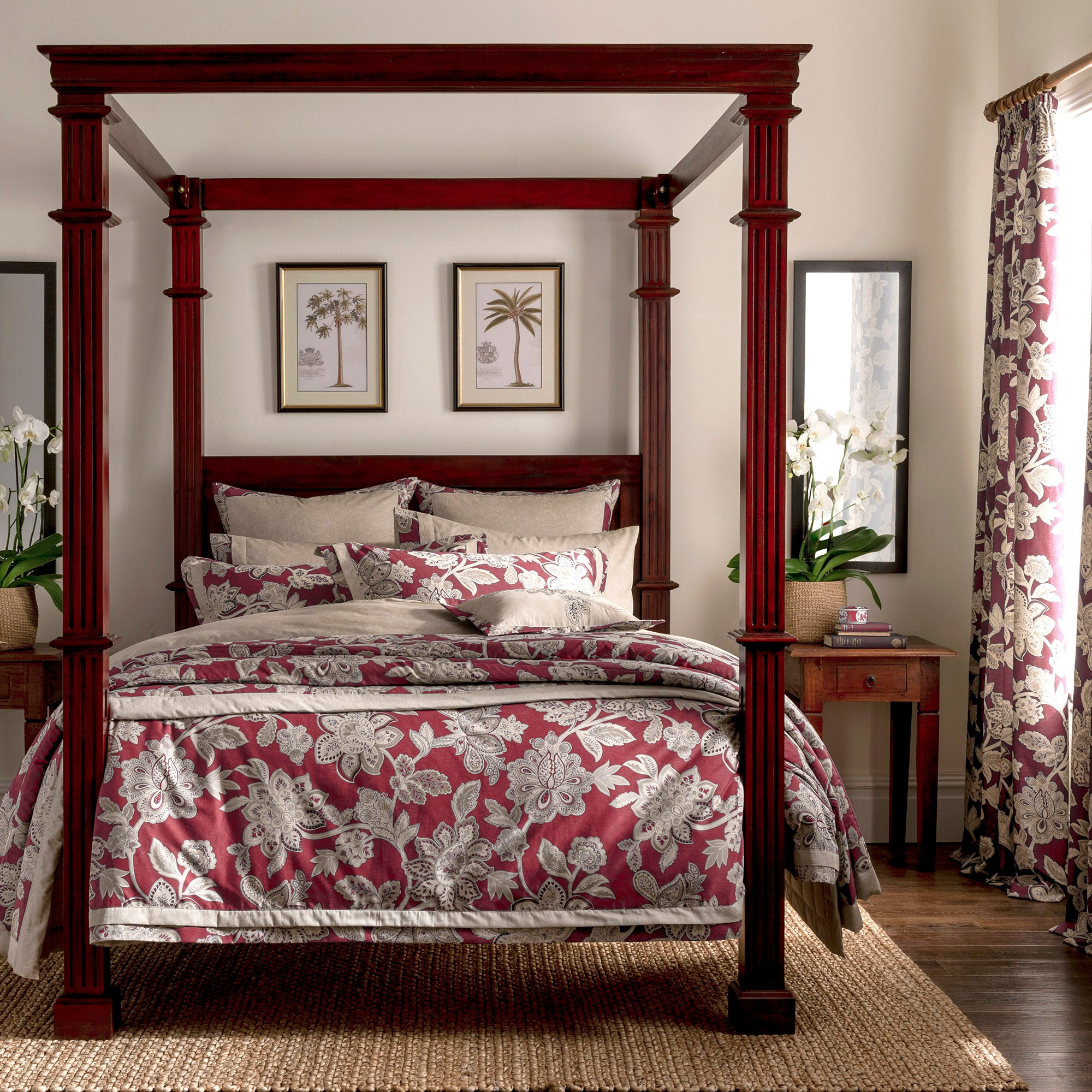 Dorma Red Samira Collection Duvet Cover