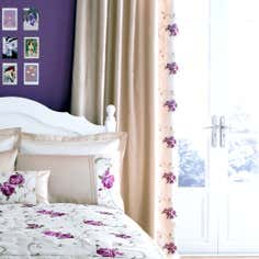 Plum Juliet Thermal Pencil Pleat Curtains