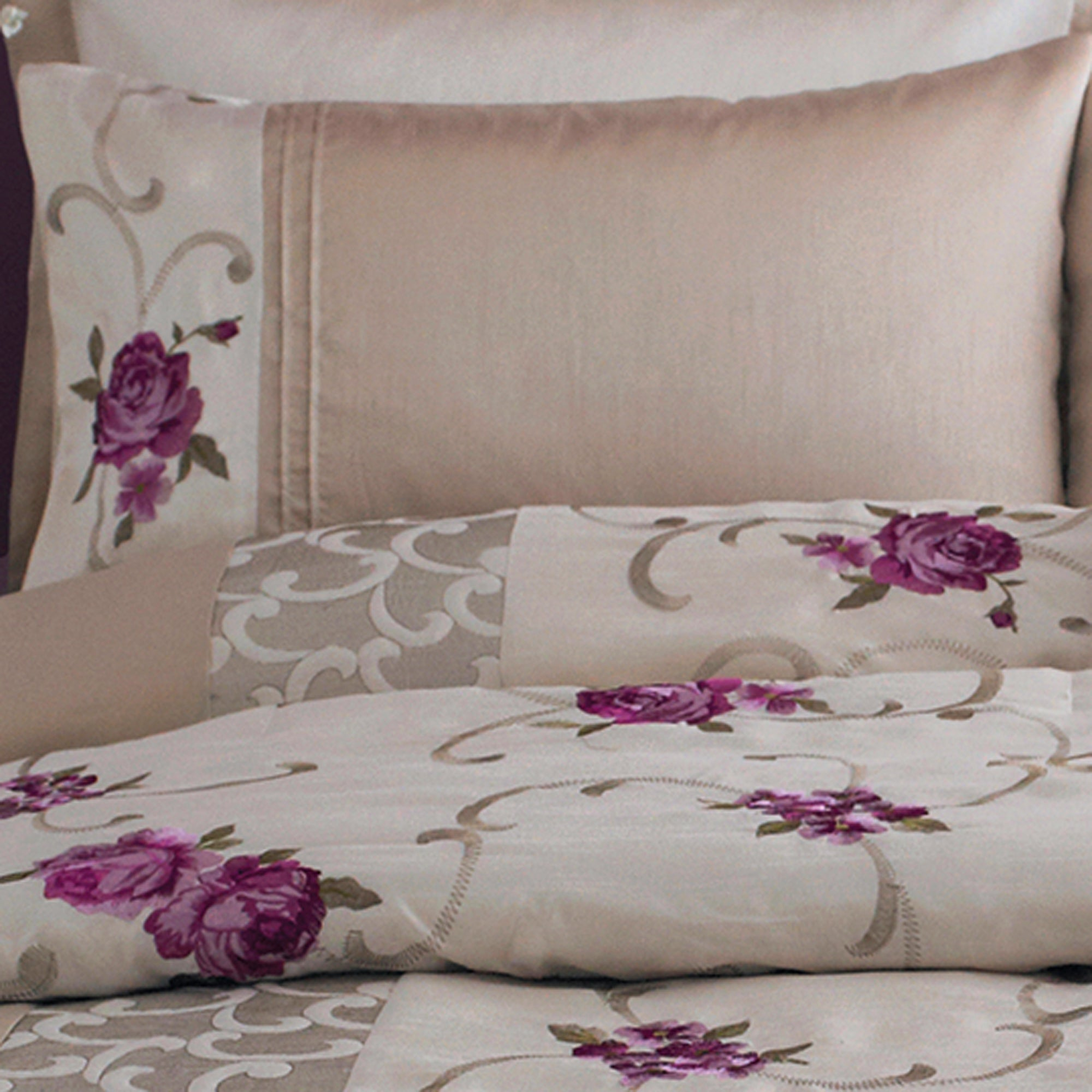 Plum Juliet Collection Housewife Pillowcase