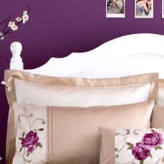 Plum Juliet Collection Oxford Pillowcase