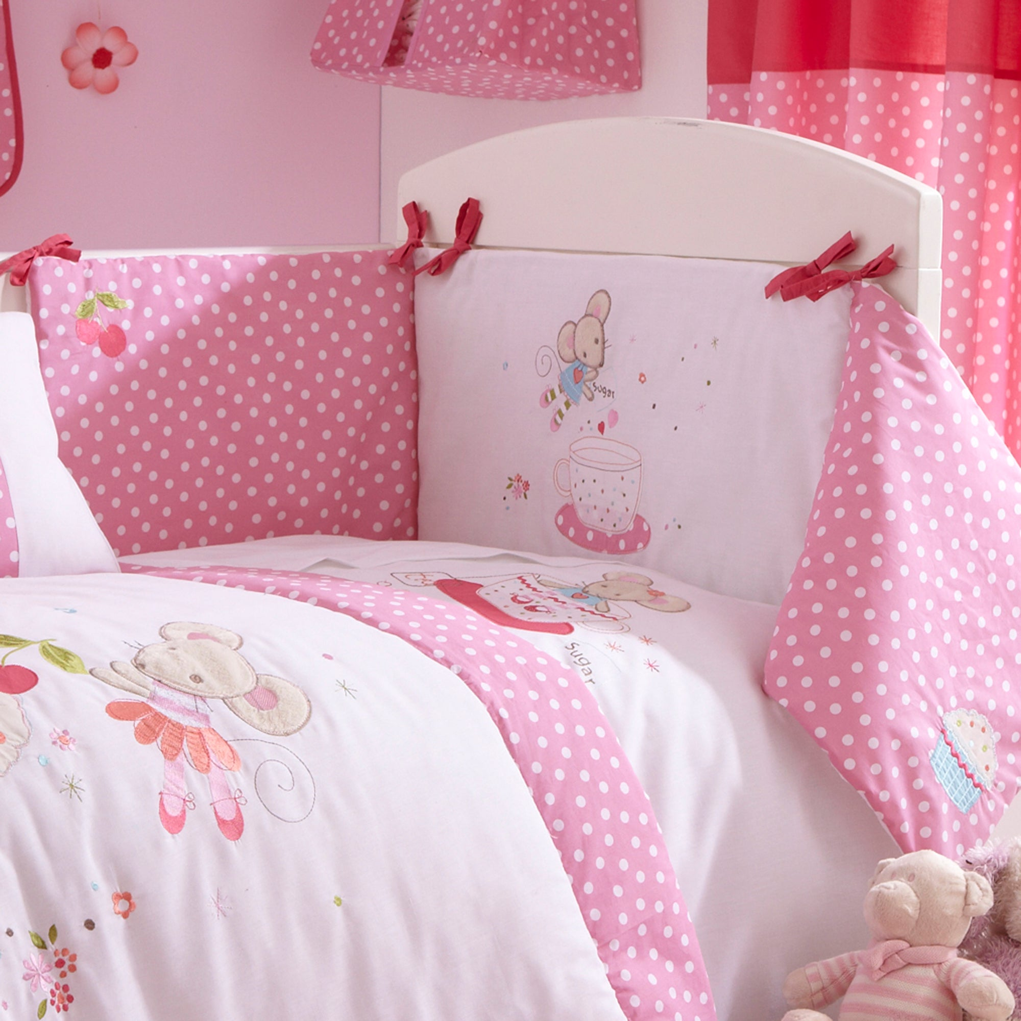 Kids Maisie Mouse Collection Cot Bumper