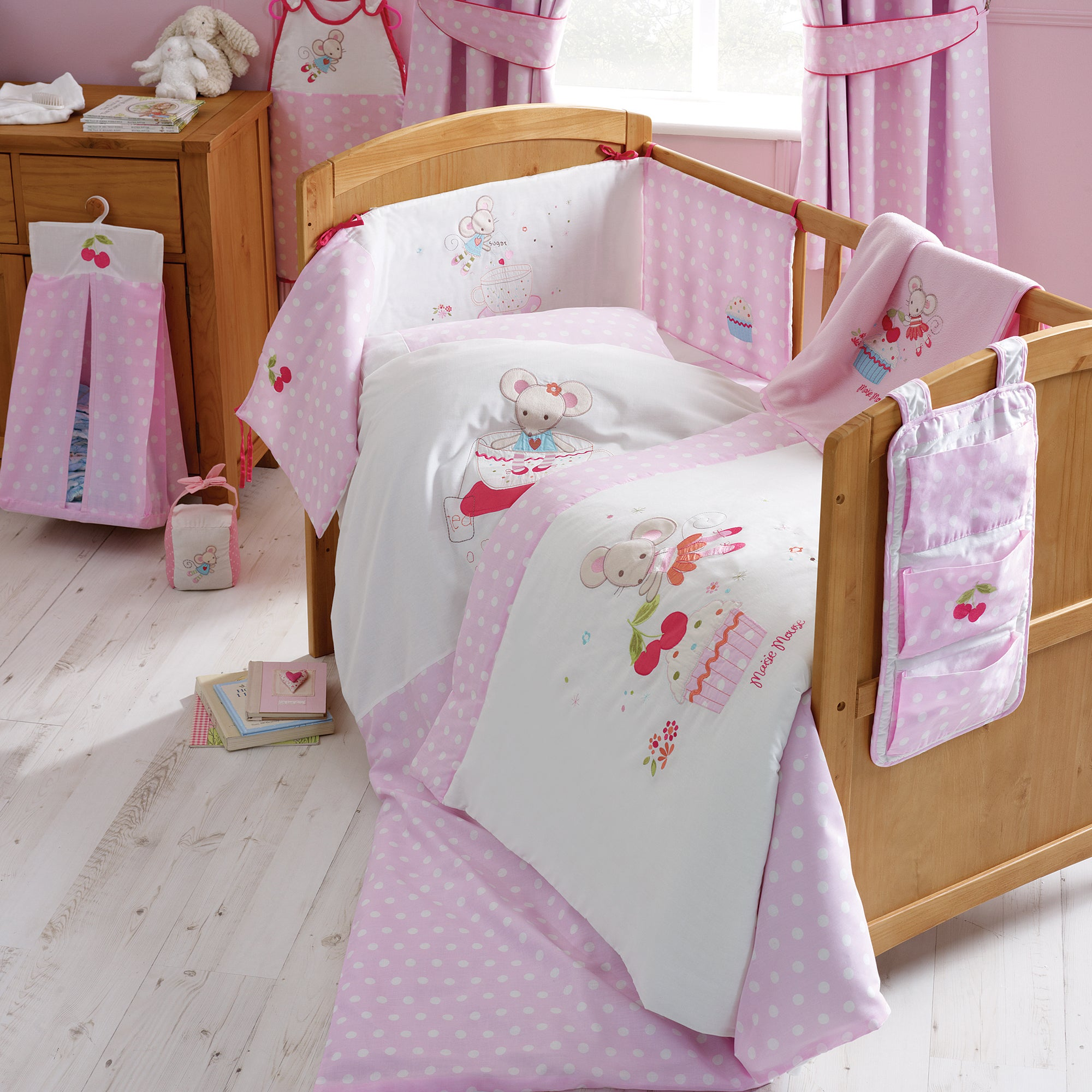 Kids Maisie Mouse Collection Flat Cot Sheet