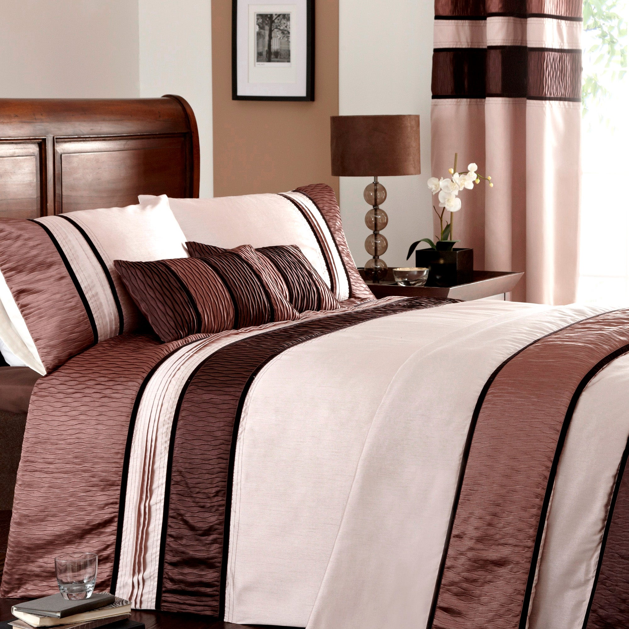Mocha Manhattan Bedlinen Collection