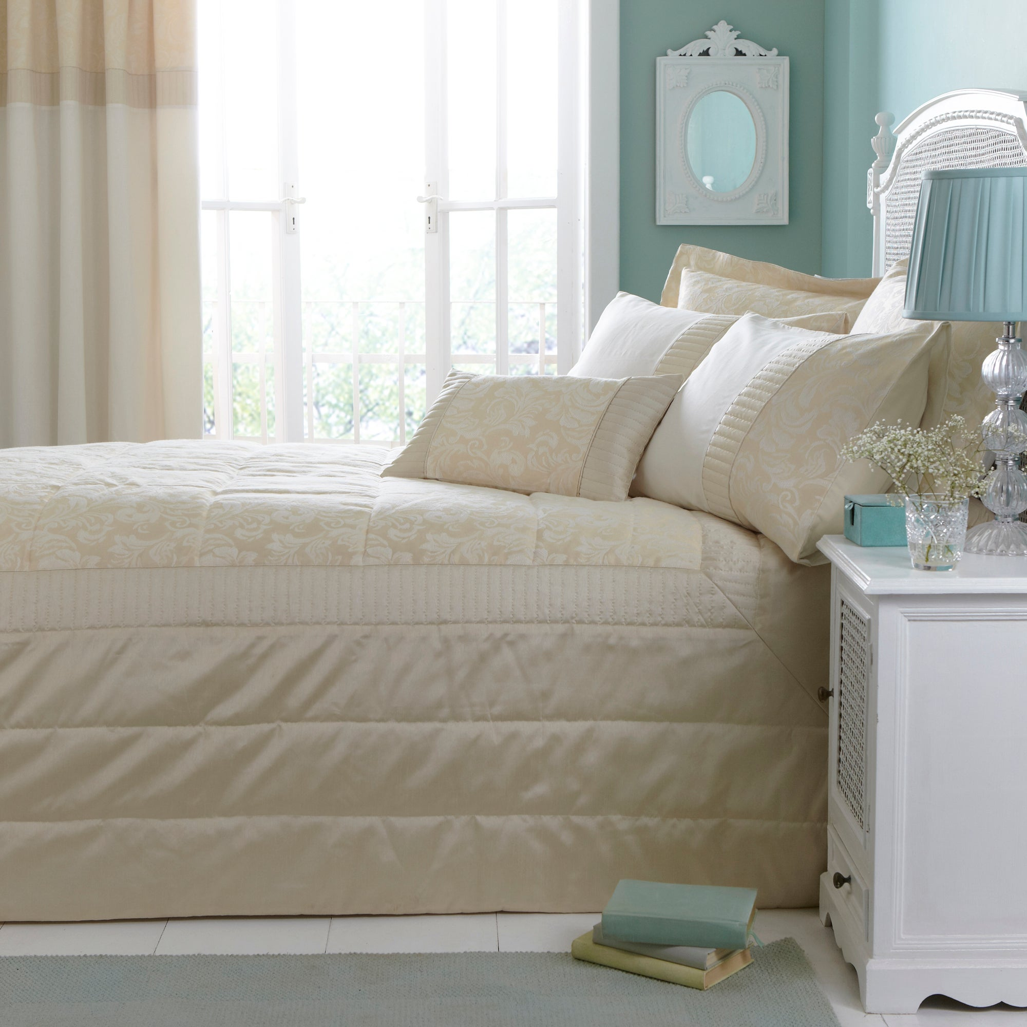 Cream Rebecca Collection Bedspread