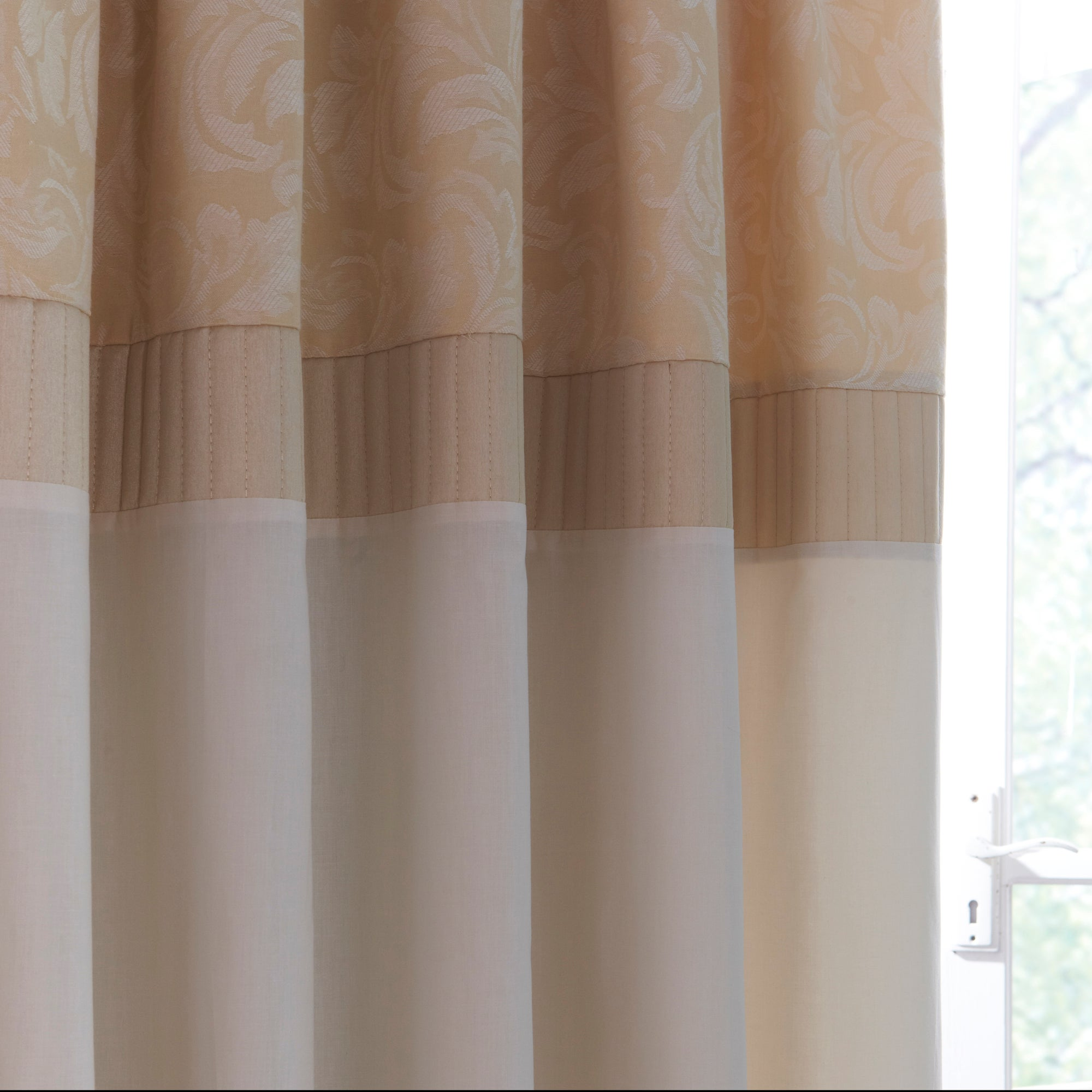 Cream Rebecca Thermal Pencil Pleat Curtains