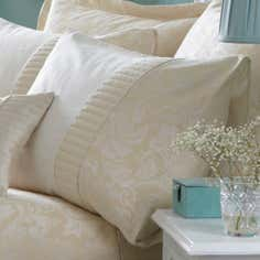 Cream Rebecca Collection Housewife Pillowcase