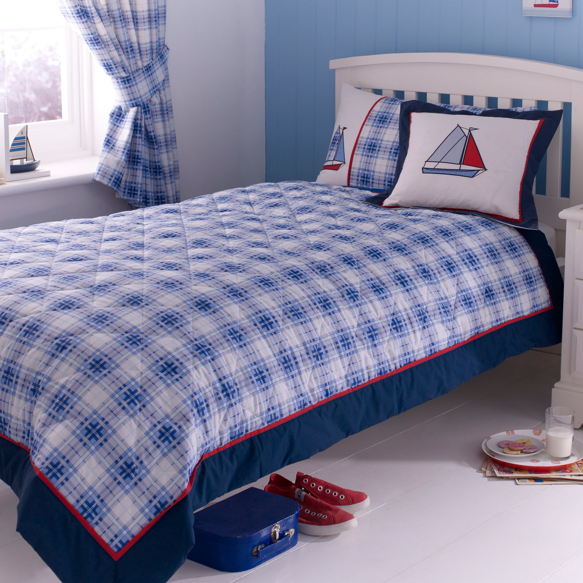 Kids Blue Sail Away Collection Bedspread