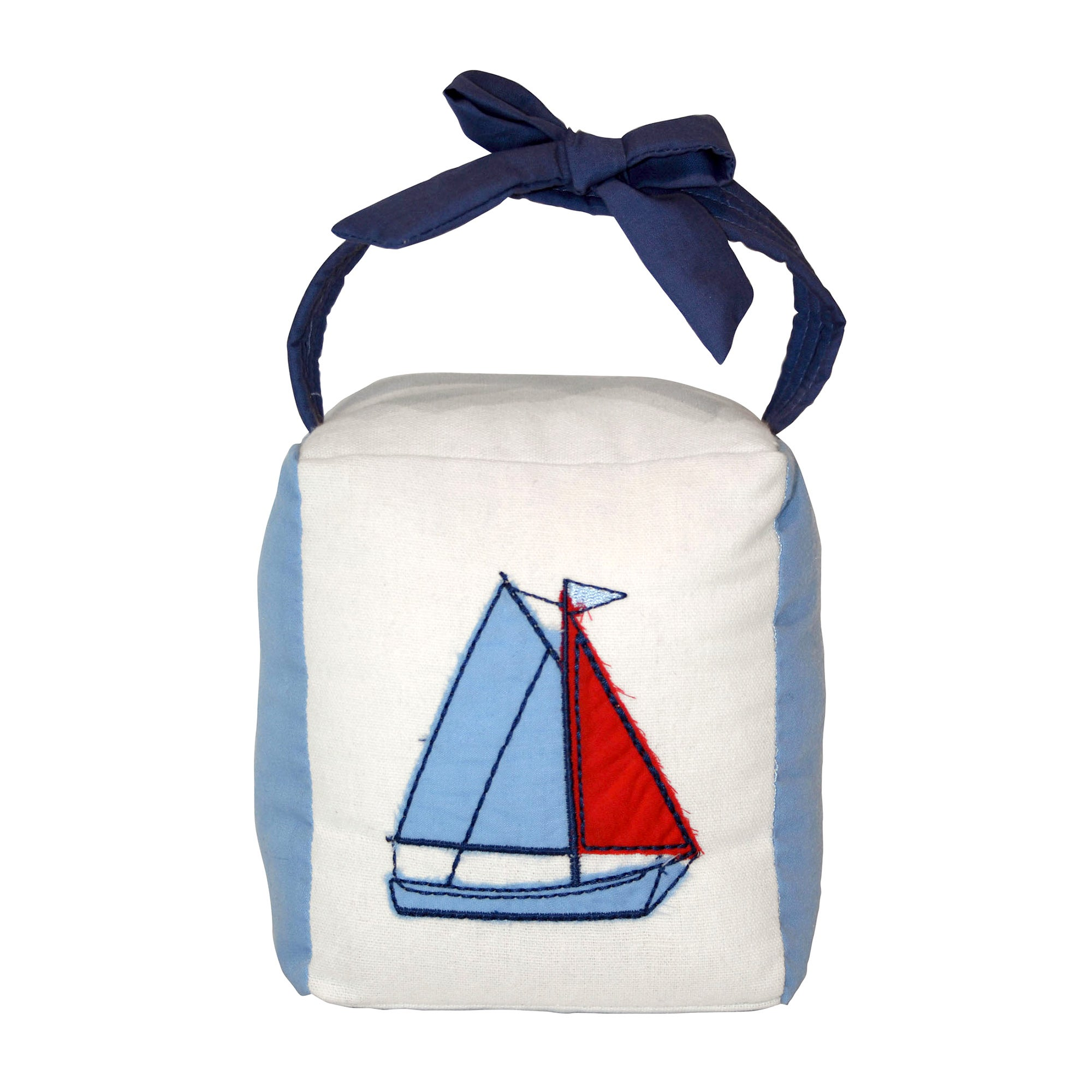 Kids Blue Sail Away Collection Doorstop