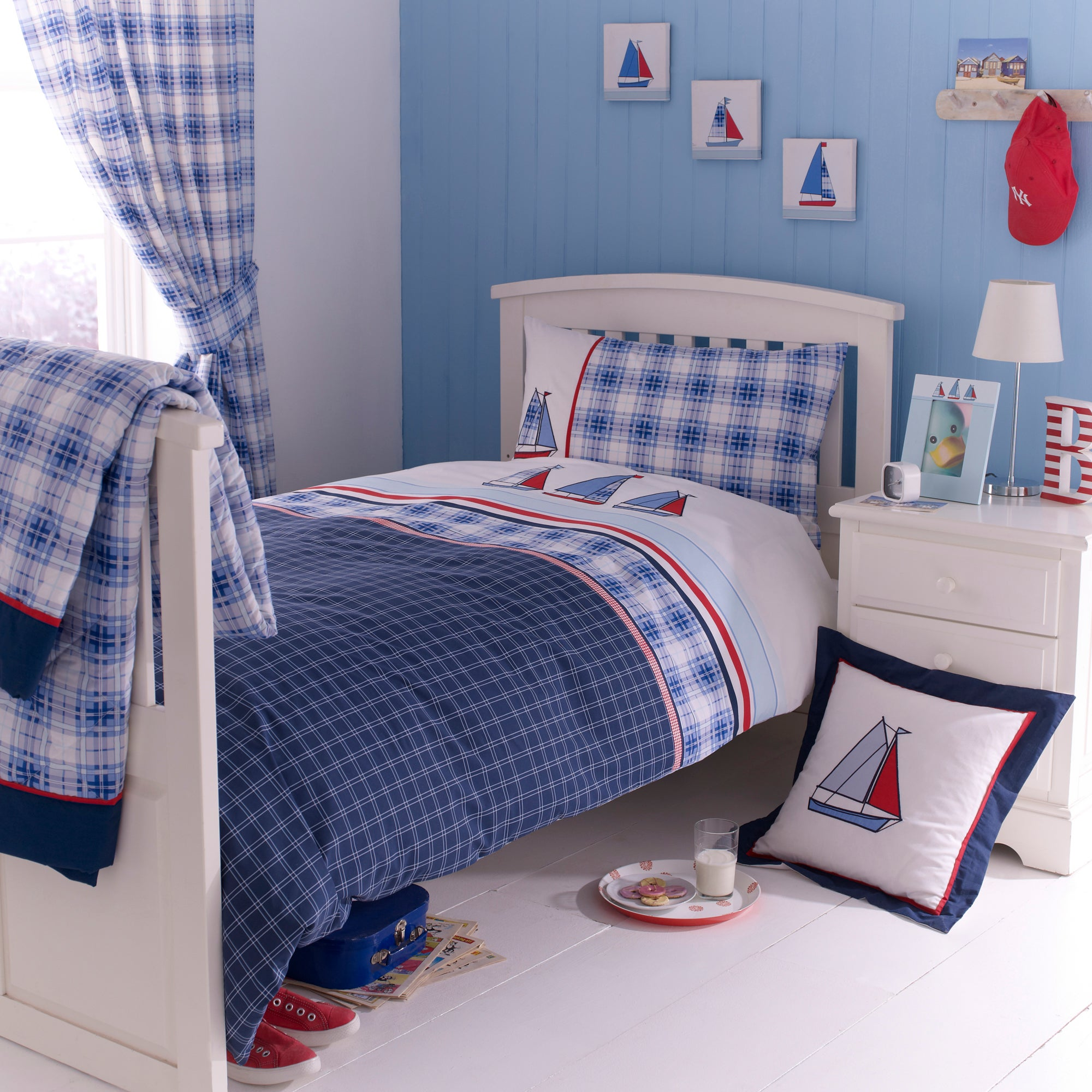Kids Blue Sail Away Collection Duvet Cover Set