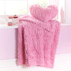 Pink Sequin Fur Throw