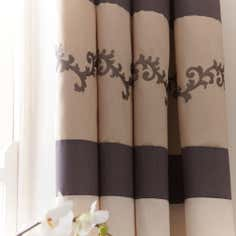Charcoal Tuscany Thermal Pencil Pleat Curtains