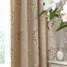 Natural Vanessa Thermal Pencil Pleat Curtains