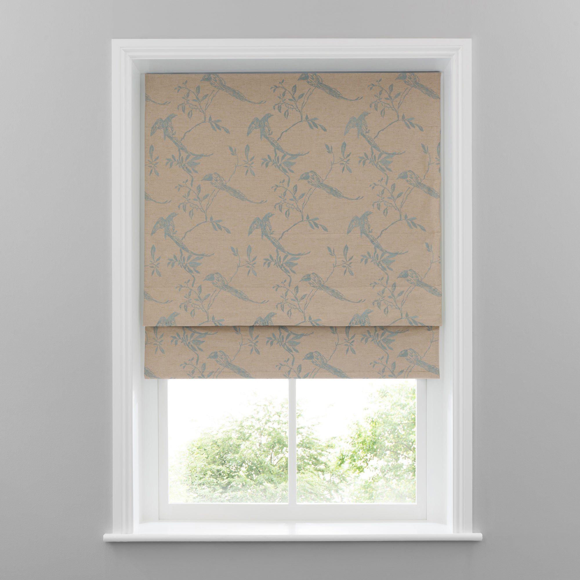 Duck Egg Songbird Eyelet Curtain Collection