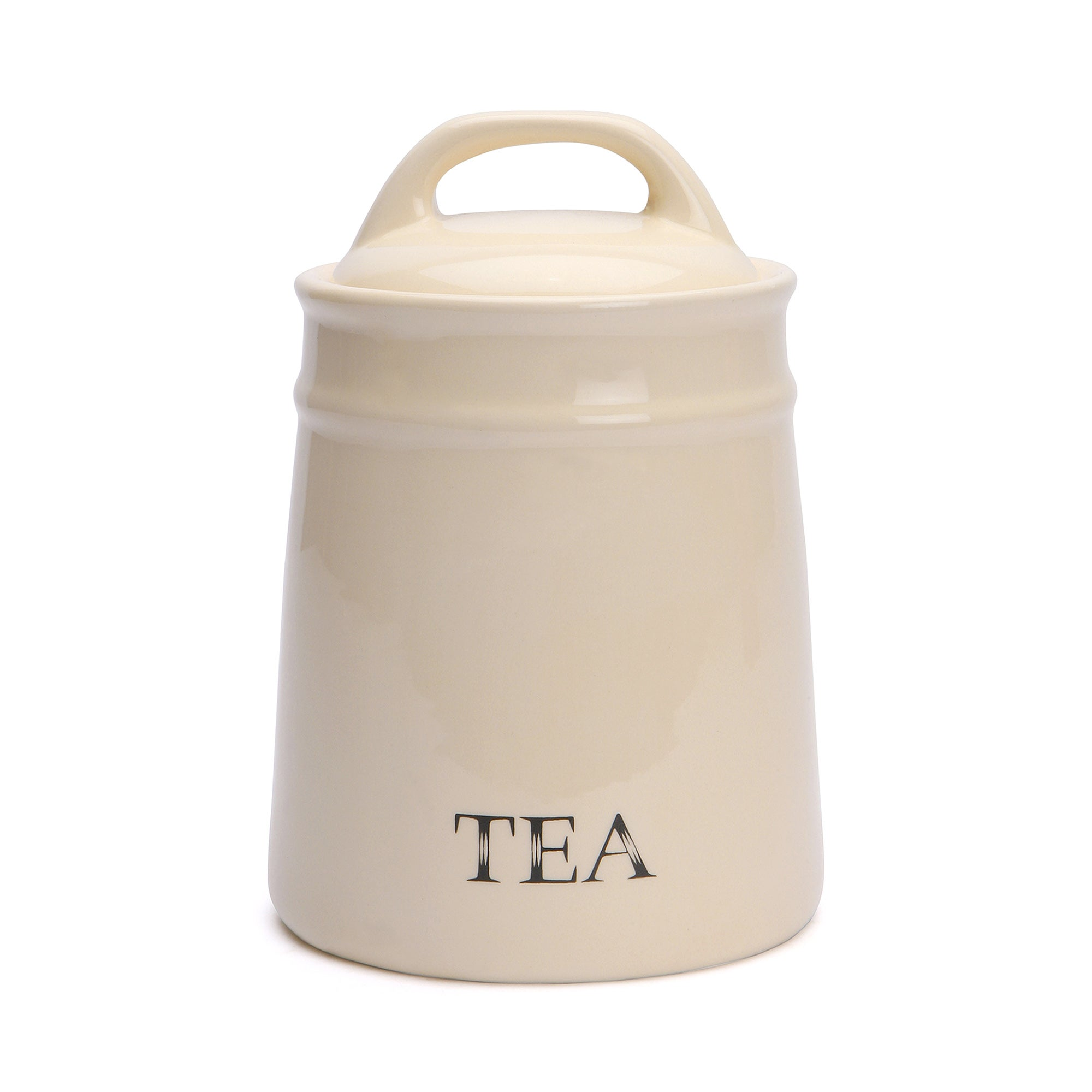 Cream Country Collection Tea Canister